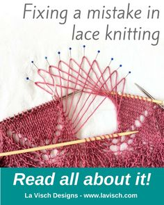 In my shawl project I found a mistake in the lace edging. You can read all about how I fixed it it on my website.
