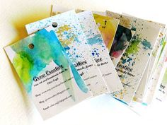Grow Creative, uniquely watercolored business cards