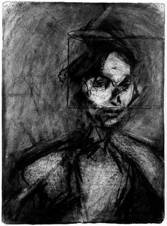 Frank Auerbach - Portrait of Sandra Frank Auerbach, Life Drawing, Figure Drawing, Painting & Drawing, Drawing Lessons, Painting Prints, Chiaroscuro, Gravure, Sculpture