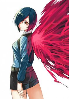 Kirishima Touka | Tokyo Ghoul. My best way to spend an evening: listening to Spotify's dark and stormy playlist while fangirling over Tokyo Ghoul.