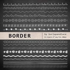 Check out Hand draw clip arts chalkboard borde by burlapandlace on Creative Market