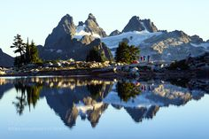 Camp reflections among peaks by Alpine_State_of_Mind