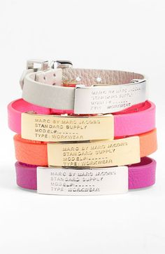 MARC BY MARC JACOBS Leather ID Bracelet | Nordstrom    would be cute beside a watch or brazilet
