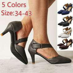 Buy Fashion Women Shoes Office Work Heels Casual Shoes Elegant Low Heel Female Pointed Sandals at Wish - Shopping Made Fun Low Heel Shoes, Shoes Heels, Work Heels, Casual Heels, Wish Shopping, Character Shoes, Kitten Heels, Dance Shoes, Female