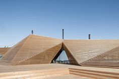 Avanto Architects creates stepped wooden public sauna on Helsinki seashore