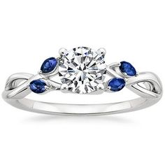 Willow Ring With Sapphire Accents #BrilliantEarth