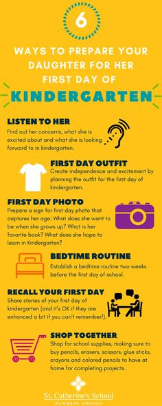 Prepare Your Daughter For Her First Day of Kindergarten. Tips to make sure your…