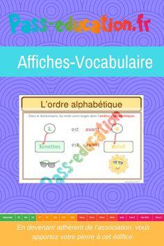 L'ordre alphabétique- Ce1 - Ce2 - Cm1 - Cm2 - Affiche pour la classe