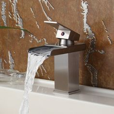 Elite 8813BN Brushed Nickel Waterfall Basin Sink Faucet | Overstock™ Shopping - Great Deals on Bathroom Faucets