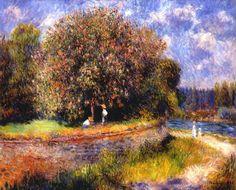 Chestnut Tree Blooming - Pierre-Auguste Renoir