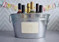 Personalized Wedding Gift  Large Beverage Tub by Susabellas, $58.99