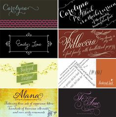 2012 Weddng Invitation Trends : Calligraphy and Hand-Lettering - Invitation Crush Wedding Typography, Cool Typography, Cool Fonts, Types Of Lettering, Lettering Styles, Calligraphy Fonts, Script Fonts, Ding Dong, Typography Inspiration