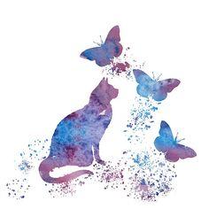 Water color Cat Art