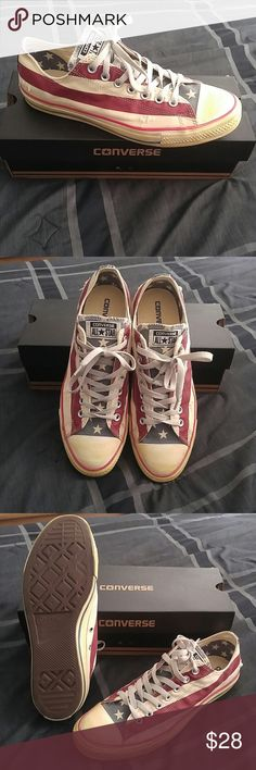 Brand New Converse Shoes - Vintage American Flag Vintage Look Converse Shoe Converse Shoes Sneakers