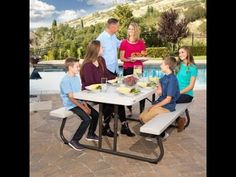 (Coupon Below) The Lifetime 60173 Picnic table is great for outdoor events, The High density Polyethylene construction makes them durable and completely wate. Lifetime Tables, Folding Picnic Table, Outdoor Events, Dining Table, Construction, Home Decor, Building, Decoration Home, Room Decor