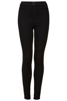 Topshop MOTO Black Joni Jeans High Waisted