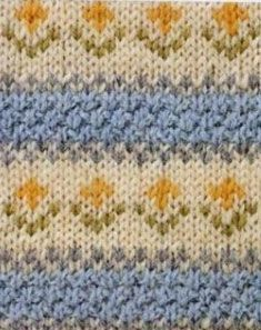 Colorwork Flowers Chart ⋆ Knitting Bee