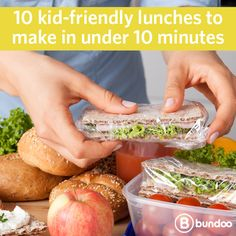 Is it healthier to pack your kids' lunch or let them eat at school? That answer plus 10 kid-friendly lunches you can make in under 10 minutes here.