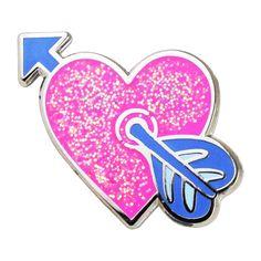 Heart with Arrow Emoji Pin