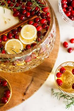 Holiday Sangria Recipe via Waiting on Martha