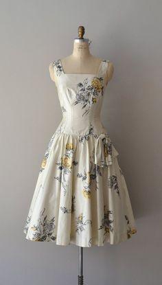 vintage 1950s dress / cotton 50s party dress / Honey by DearGolden, $124.00