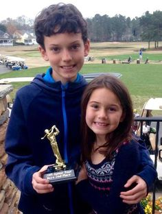 Proud of my Grandson & Grand-daughter. Luke came in 2nd place at the Golf Tournament. Rynne was there supporting her big brother. Sweet kids.