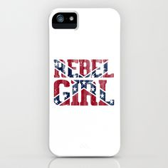 Rebel Girl Vintage Southern Confederate Flag iPhone & iPod Case by RexLambo - $35.00