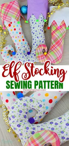 Looking for a fun Christmas stocking pattern idea? This elf stocking pattern might look fancy and complicated but it's super easy to make and would make a wonderful addition to your Christmas decor! #easypeasycreativeideas #sewing #christmas #elfstocking #stocking #stockingpattern #sewingpattern #christmascrafts Christmas Sewing Projects, Diy Sewing Projects, Sewing Projects For Beginners, Christmas Stockings, Christmas Decor, Christmas Ideas, Diy Christmas Stocking Pattern, Super Easy, Elf