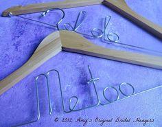 Me Too Hangers Sets I Do Hangers Bridal by OriginalBridalHanger, $40.00