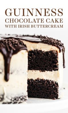 irish christmas recipes Guinness Chocolate Cake with Irish Buttercream features an easy, fudgy, and moist cocoa cake with Guinness beer and thick creamy, sweet Irish cream buttercream. The perfect St. Patricks Day or a birthday dessert recipe! Food Cakes, Cupcakes, Cupcake Cakes, Muffin Cupcake, Just Desserts, Dessert Recipes, Asian Desserts, Plated Desserts, Chocolate Cobbler