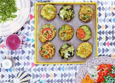 Hemsley & Hemsley share these tasty vegetable muffin recipe! Great for packed lunches and on-the-go breakfasts! Veggie Recipes, Vegetarian Recipes, Healthy Recipes, Paleo Meals, Veggie Meals, Healthy Breakfasts, Lunch Recipes, Keto Recipes, Vegetable Muffins