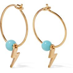 Paul Morelli Turquoise Beaded Bell Hoop Earrings NNHoL4aZRd