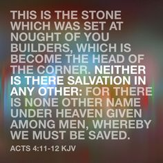 JESUS is the ONLY one who can save you!