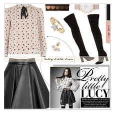 """""""Pretty Little Lucy"""" by sonny-m ❤ liked on Polyvore featuring MSGM, Dorothy Perkins, Gianvito Rossi, Talia Naomi, Becca, Bobbi Brown Cosmetics, The Horse and Kismet by Milka"""