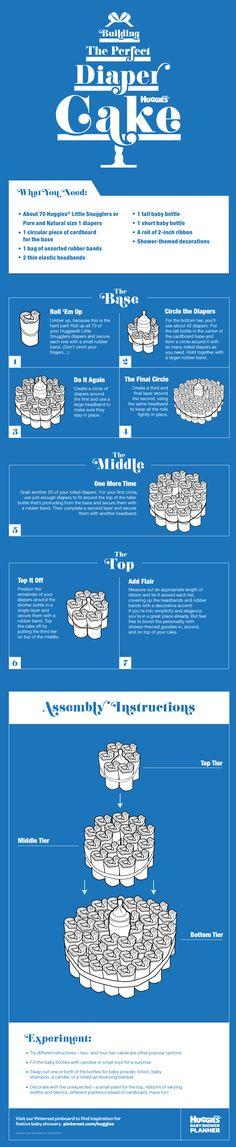 Como hacer una torta de pañales!!