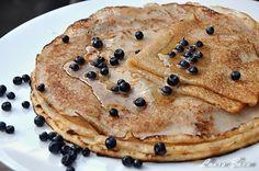 Clatite de post Gluten, Gem, Pancakes, Good Food, Goodies, Breakfast, Ethnic Recipes, Sweet Like Candy, Morning Coffee