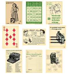 Australia's Craft Wholesaler - October Afternoon - Thrift Shop - Die-Cut Wild Cards (sold in Images Vintage, Vintage Pictures, Vintage Labels, Vintage Ephemera, Journal Cards, Junk Journal, October Afternoon, Vintage School, Funny Tattoos