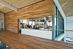 SHED Jensen Architects Healdsburg, California A sliding wall reveals and conceals a kitchen to meet the needs of different events and performances.