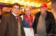 Franz Klammer 60 igster Geburtstag im Pulverer - Niki Lauda, einer der Gratulanten mit Familie Pulverer #fk60