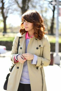 like: layers and color combo-- via Delmy@Fashion Bananas