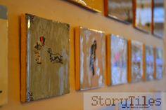 Storytiles - kunstzinnige miniatuurverhalen op unieke Hollandse witjes. Voor de collectie kijkt u op http://www.zinaantafel.nl/shop/storytiles