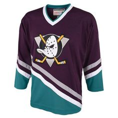 Reebok Anaheim Ducks CCM Classic Anniversary Throwback Jersey -  Purple Turquoise Dek Hockey 5058429bd