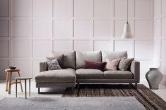 Modern Chaise Corner Sofa, UK - Hector