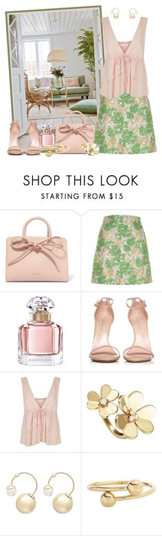 """""""It's a Beautiful Day!"""" by krusie ❤ liked on Polyvore featuring Mansur Gavriel, River Island, Guerlain, Stuart Weitzman, See by Chloé, Van Cleef & Arpels, Witchery and J.W. Anderson"""