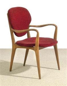 """""""Haas Haus"""" armchair, by Carl Appel, 1953"""