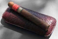 Partagas cigar and holder