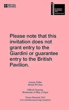 Jeremy Deller, British Pavilion at the 55th Venice Biennale, British Council, June 1 - November 24 2013.  www.britishcouncil.org/venicebiennale  http://twitter.com/BritishCouncil