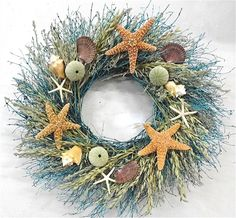 Wreaths For Door - Walk On The Beach Door Wreath, $62.99 (http://www.wreathsfordoor.com/walk-on-the-beach-door-wreath/)