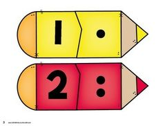 Back to School Number Matching - Kindergarten Math Centers by Kristin Edwards Numbers Preschool, Kindergarten Math, Preschool Activities, Number Activities, Math Games, Learning Activities, Number Matching, Math Journals, Math For Kids