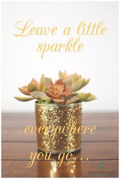 Leave a little sparkle everywhere you go | DIY Sparkly Succulent | Wedding Favor Ideas | www.KristineMariePhotography.com